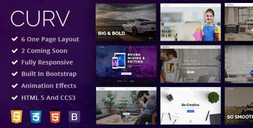 ThemeForest - CURV v1.0 - One Page Multipurpose Parallax (Update: 6 April 20) - 20830105