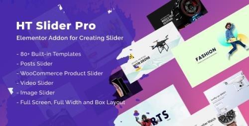 CodeCanyon - HT Slider Pro For Elementor v1.0.8 - 25509064