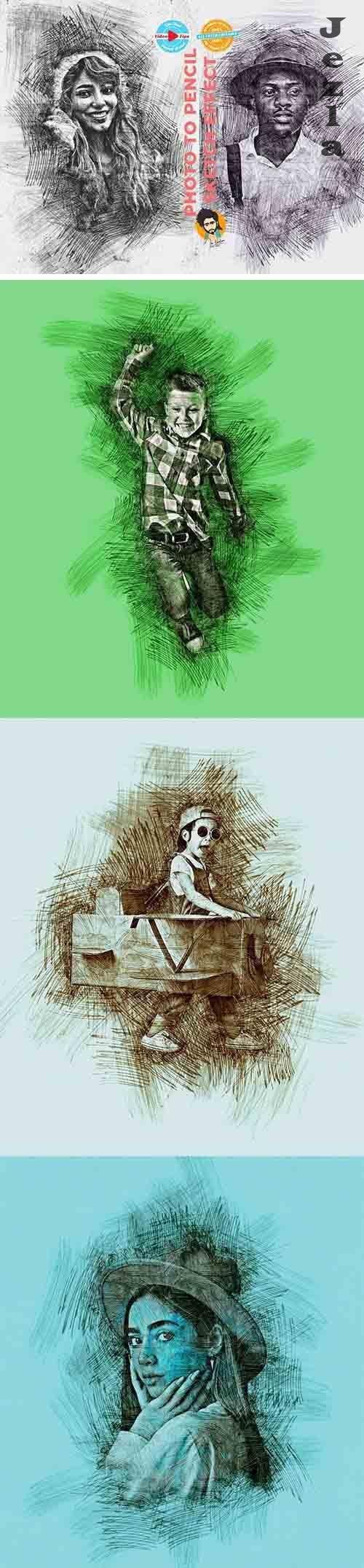 CreativeMarket - Photo to Pencil Sketch Effect 6117774