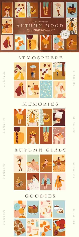 Abstract Autumn Mood Illustrations - 6131879