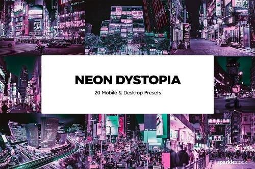 20 Neon Dystopia LRM Presets - 6134519