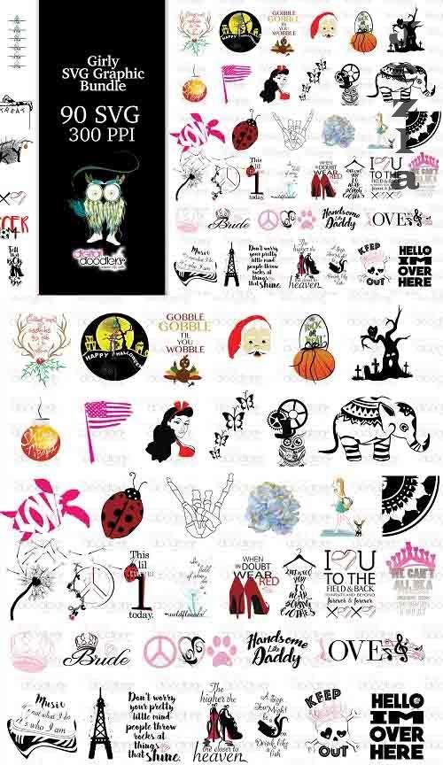 Girly SVG Graphic Bundle - 1359518
