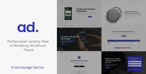 ThemeForest - Advent v1.3.8 - Marketing Landing Page WordPress Theme - 18872302