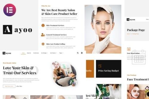 ThemeForest - Ayoo v1.0.0 - Beauty Salon Services Elementor Template Kits - 32034195