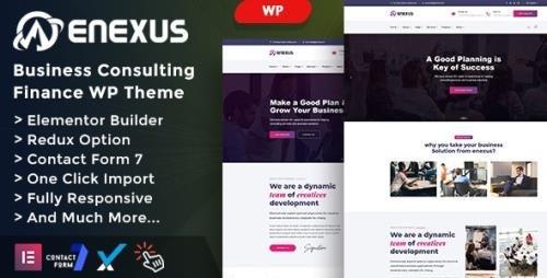 ThemeForest - Enexus v1.0 - Consulting Business Elementor WordPress Theme (Update: 31 March 21) - 25551662
