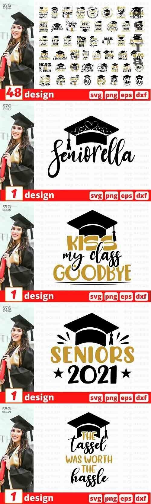 Graduation SVG Bundle   Senior Cut File   Student - 1365729
