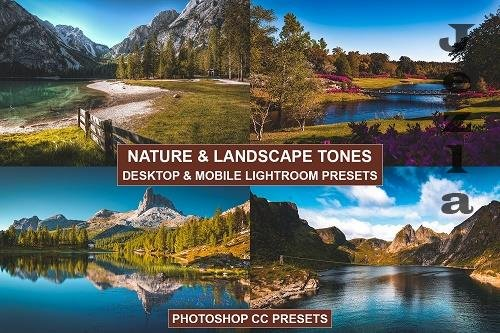 Desktop and Mobile LRM Presets Nature Tones - 1367833