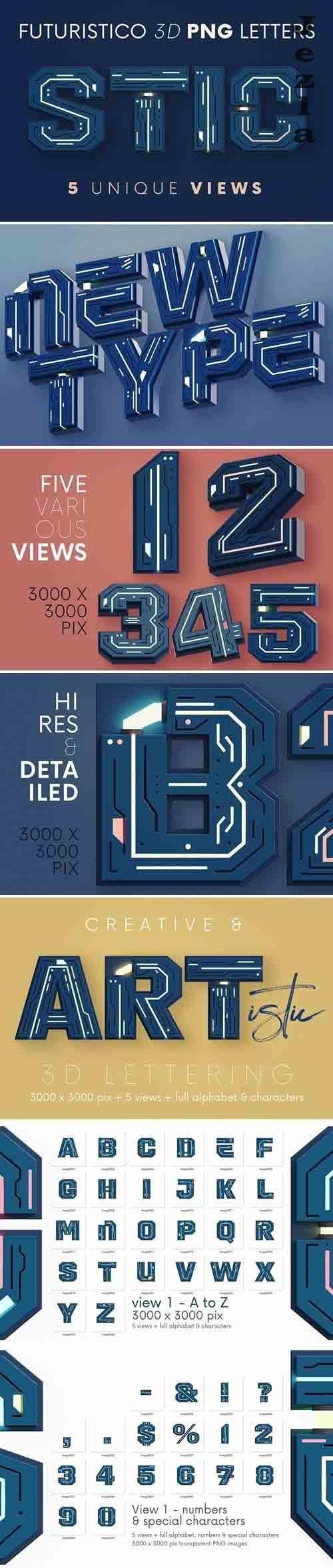 Futuristico - 3D Lettering - 6129567