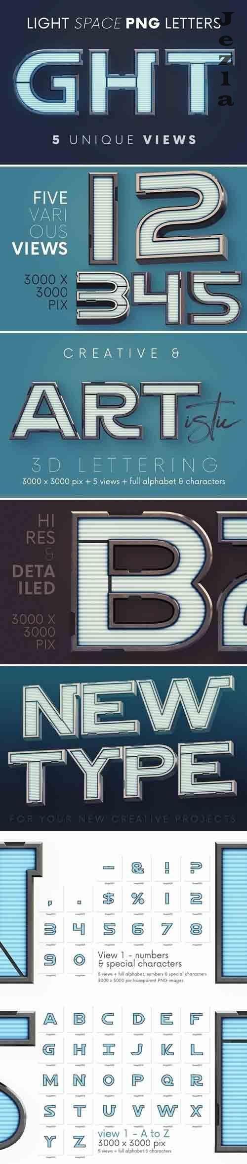 Light Space - 3D Lettering - 6129565