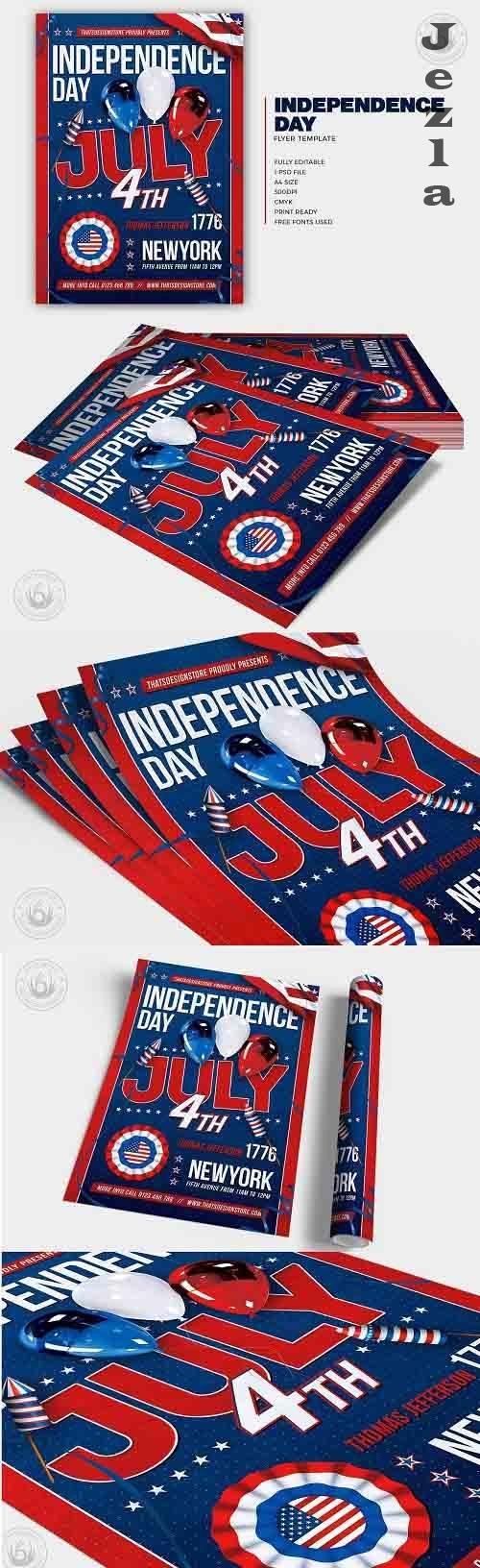 Independence Day Flyer Template V6 - 6156619