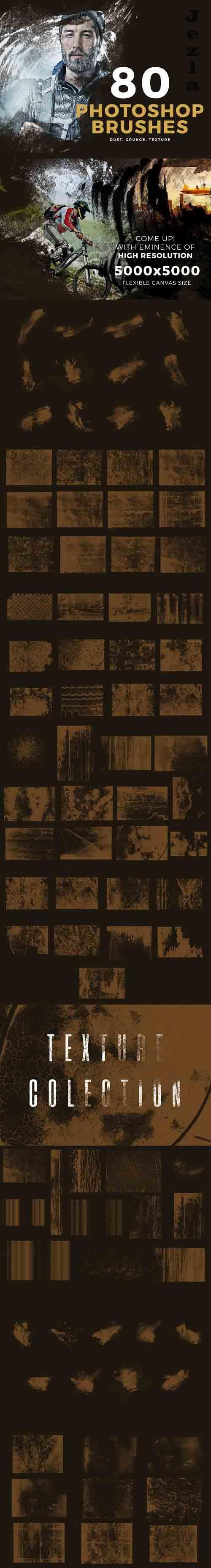 80 PHSP Brushes - 2499810 - Dust, Grunge, Texture, Wood