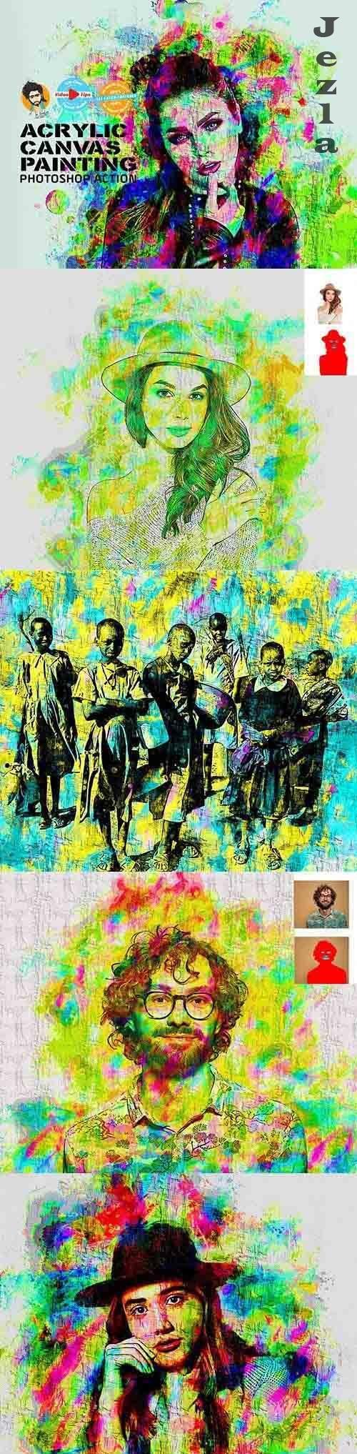 CreativeMarket - Acrylic Canvas Painting 5990448