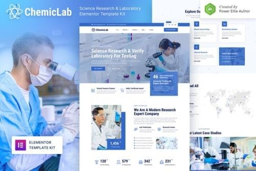 ThemeForest - ChemicLab v1.0.0 - Science Research Laboratory Elementor Template Kit - 32223328