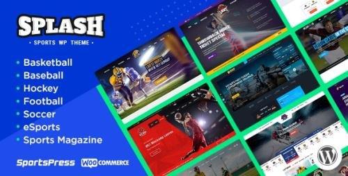 ThemeForest - Splash v4.3.2 - Sport Club WordPress Theme for Basketball, Football, Hockey - 16751749 - NULLED