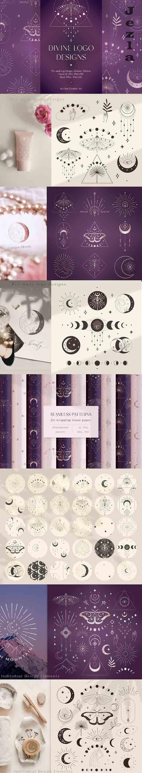 Divine Beauty Logo Designs, Elements and Patterns Collection - 6131969