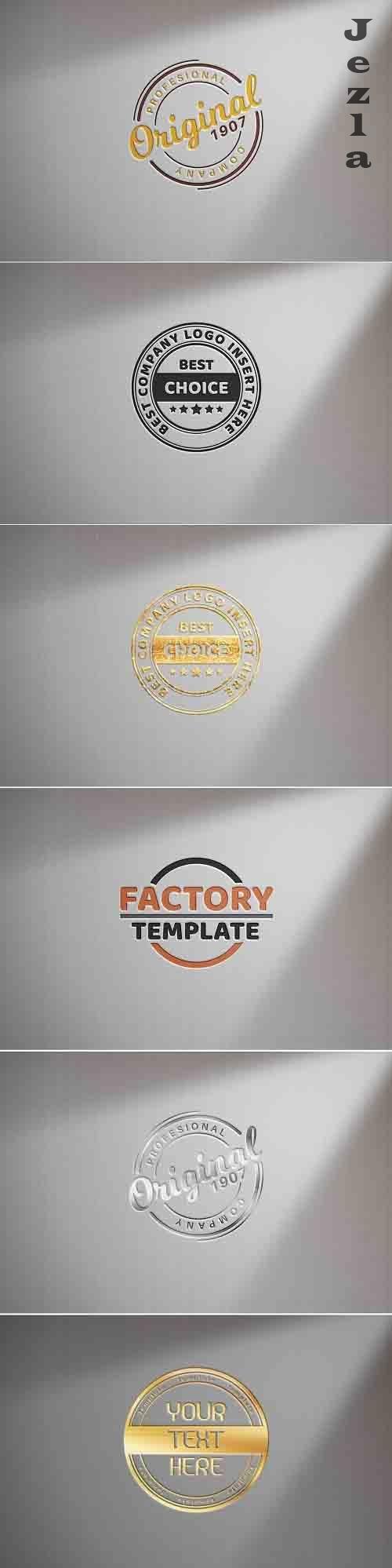 Logo on white paper - mockup template - 6172457