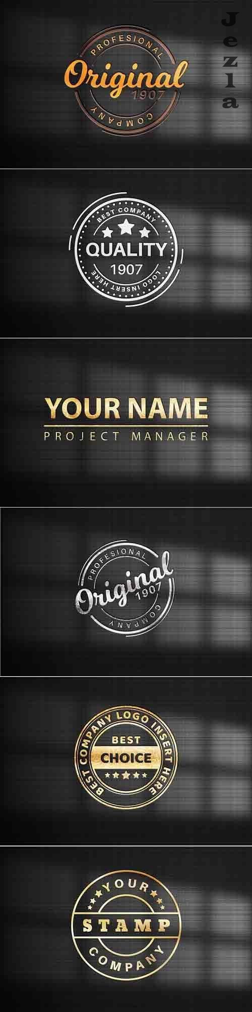 Logo on black paper- mockup template - 6173191