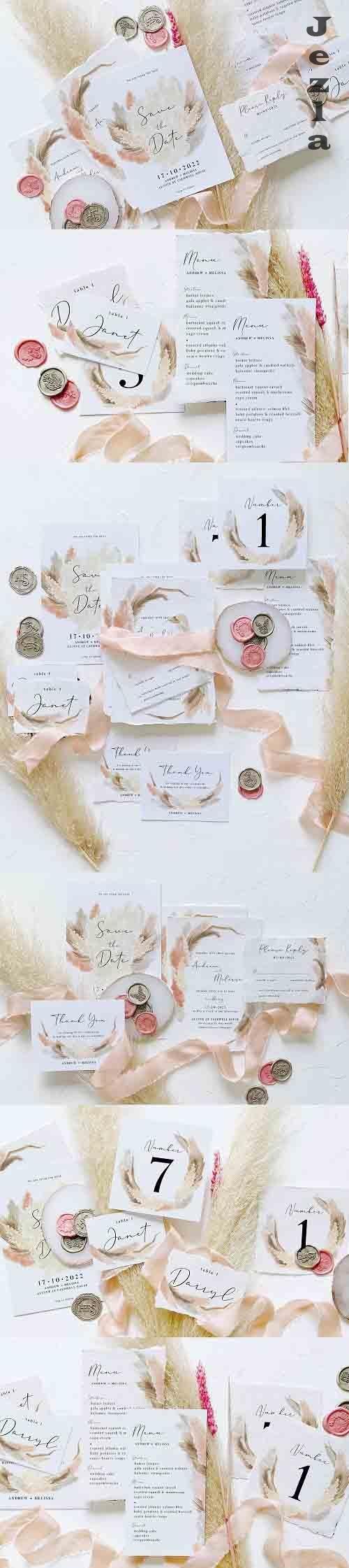 Pampas Grass Wedding Suite - 6166397