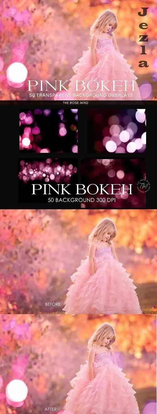 Bokeh Pink background, overlays - 1385265