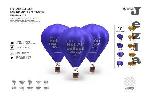 Hot Air Balloon 3D Mockup Template Bundle - 1388592