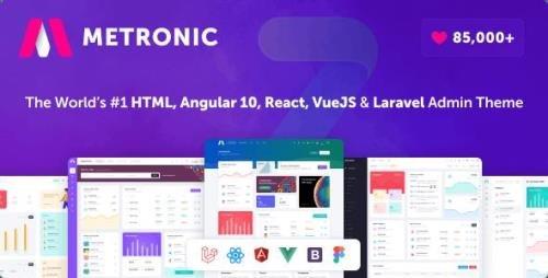 ThemeForest - Metronic v8.0.11 - Bootstrap 4/5 HTML, VueJS, React, Angular 11 & Laravel Admin Dashboard Theme - 4021469