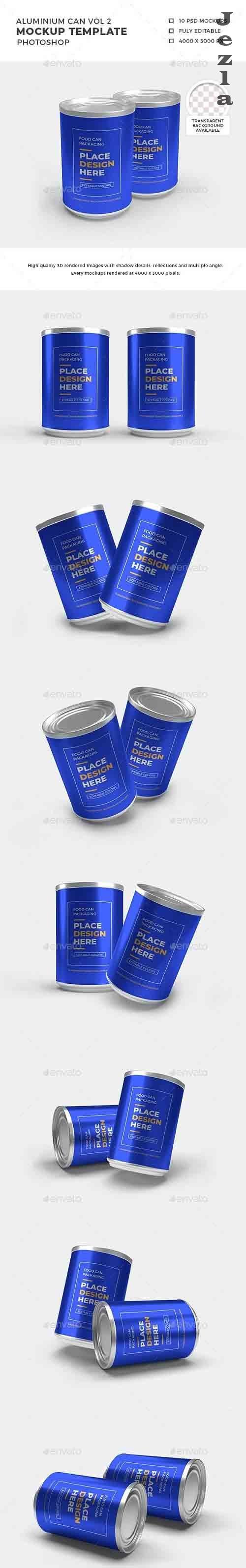 Aluminium Food Can Mockup Set - 32368774 - 1392677 - 3D Template