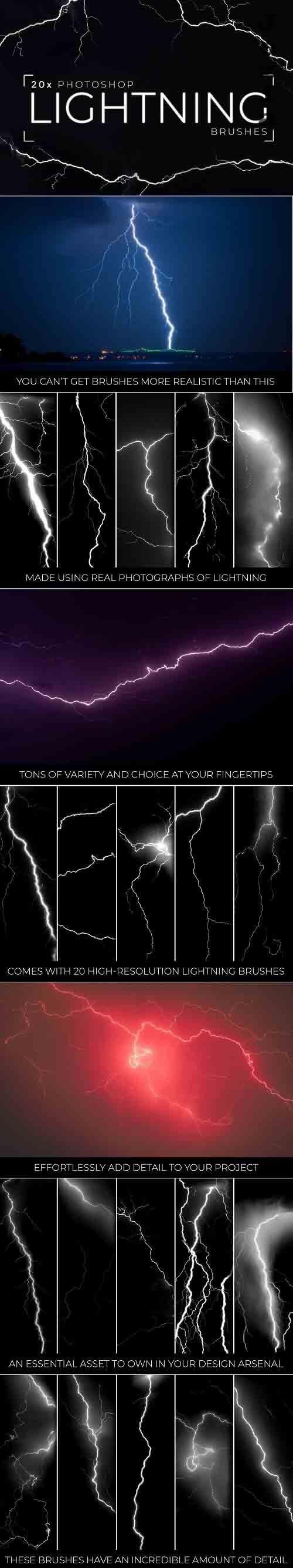 20x PHSP Lightning Brushes - 6182308