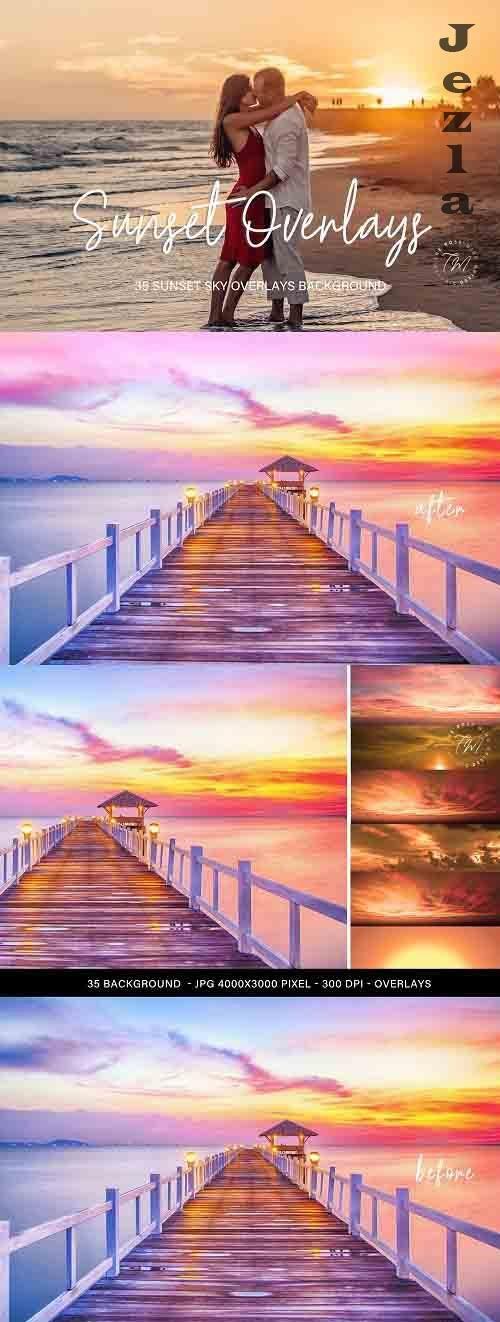 Sunset Sky overlays, Sunset overlays for PHSP - 1394680