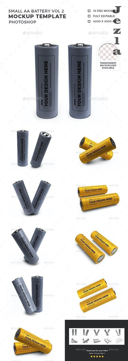 Small Battery Mockup Template Set Vol 2 - 32400966