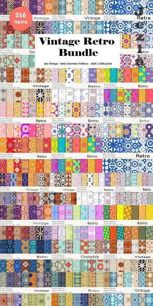 Vintage Retro Patterns Bundle - 6194395