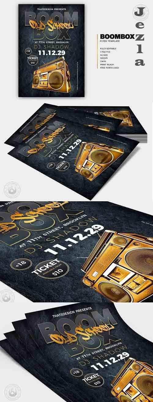 Boombox Flyer Template V2 - 6195175