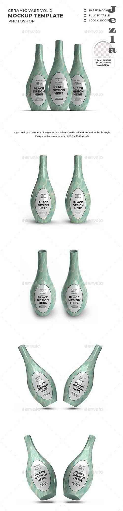 Ceramic Vase 3D Mockup Template Vol 2 - 32458681