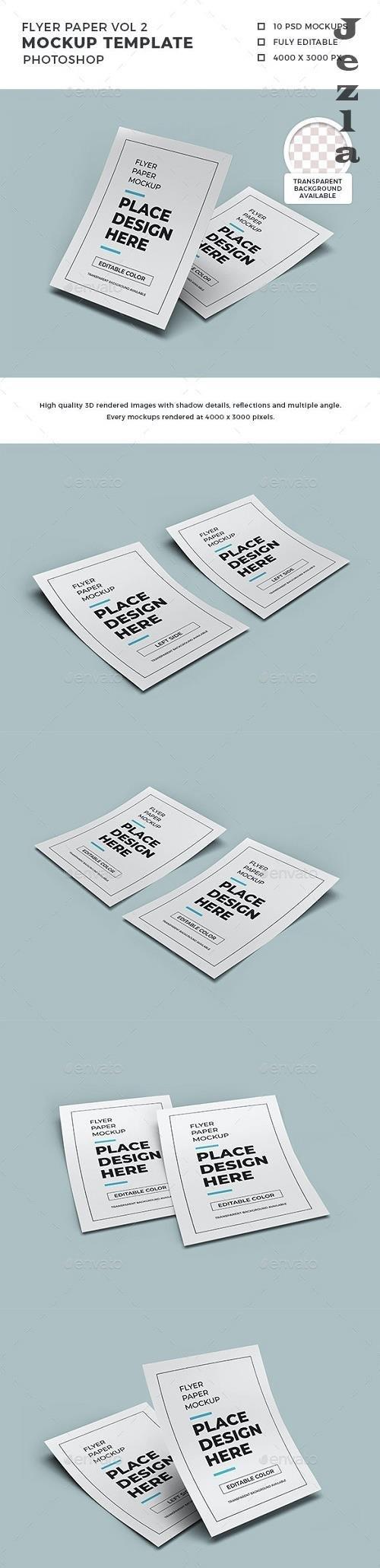 Flyer Paper Mockup Template Set Vol 2 - 32507113