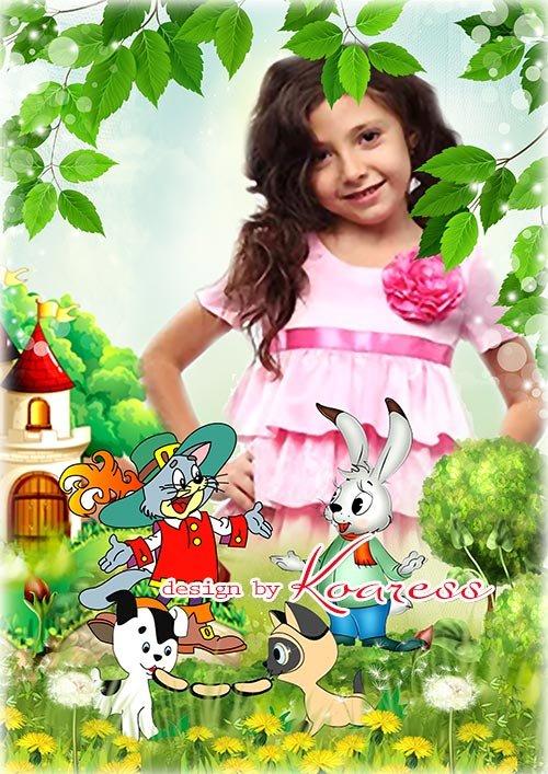 Многослойная фоторамка для детских фото - Сказки