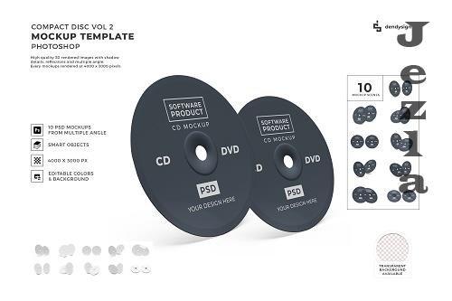 Compact Disc CD DVD Mockup Template Bundle 2 - 1406676