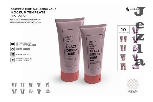 Cosmetic Tube Packaging Mockup Template Bundle 2 - 1406983