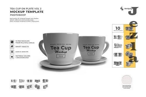 Cup on Plate Mockup Template Bundle 2 - 1407028