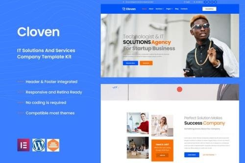 ThemeForest - Cloven v1.0.0 - IT Solutions &Services Company Elementor Template Kit - 32316117