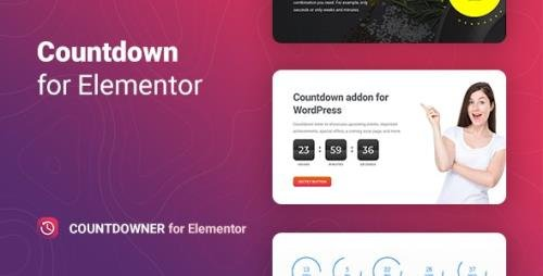 CodeCanyon - Countdowner v1.0.0 - Countdown Timer for Elementor - 32417109