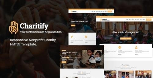 ThemeForest - Charitify v1.0 - NGO/Charity/Fundraising HTML Template (Update: 3 June 21) - 21884830