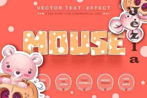 Mouse cheese - editable text effect - 6213594
