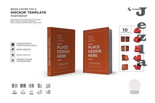 Book Cover 3D Mockup Template Bundle - 1396512