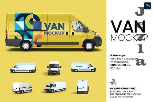 Van Mockup - 6 views - 6202980