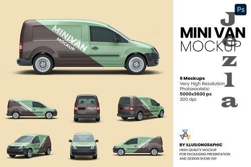 Mini Van Mockup - 6 views - 6215356