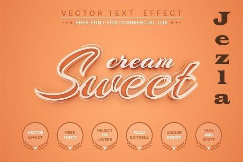 Sweet script - editable text effect - 6216910