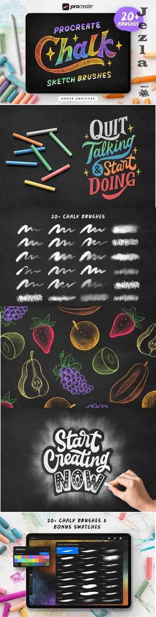 Procreate Chalk Sketch Brushes - 6217127