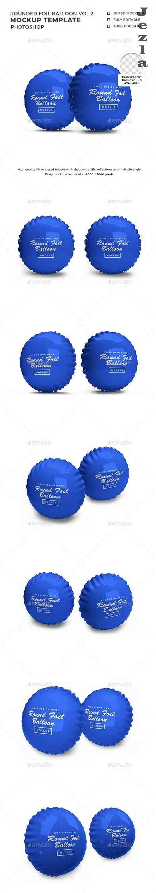 Rounded Foil Balloon 3D Mockup Template Vol 2 - 32557867