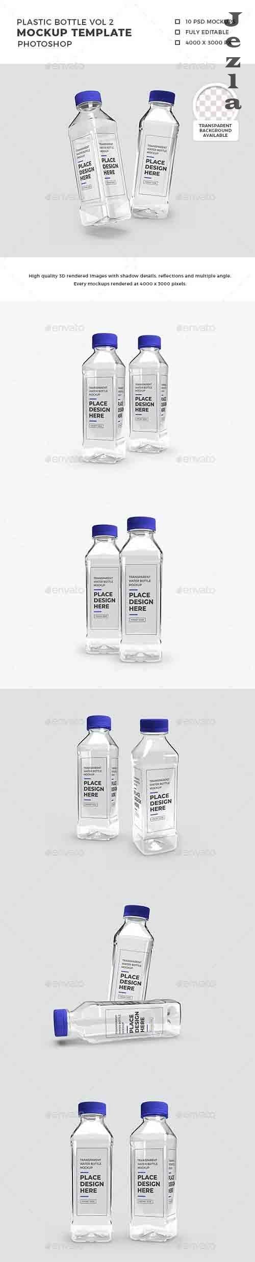Transparent Plastic Bottle Packaging Mockup Vol 2 - 32552999