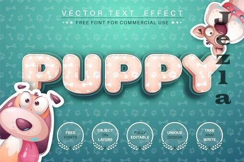 Puppy footprint - editable text effect - 6218714