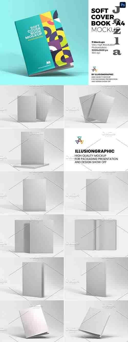 Soft Cover Book Mockup - A4 - 6126932